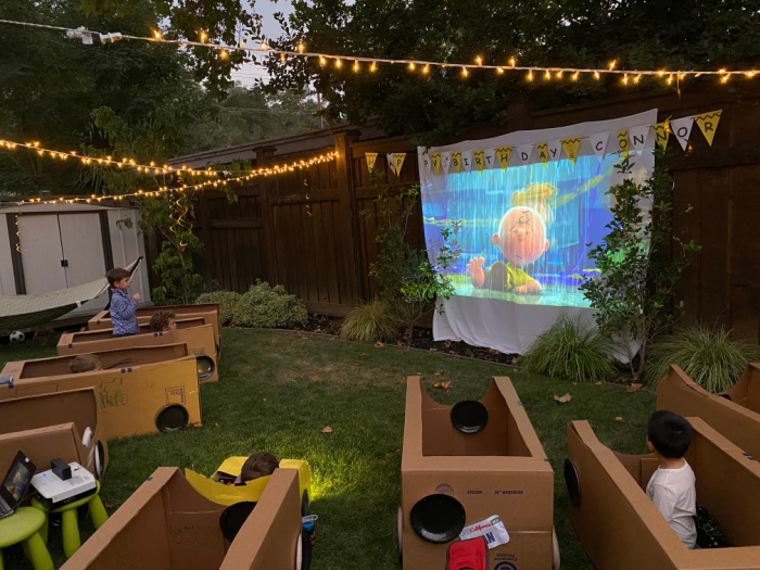 backyard drive-in movie